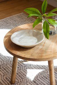 mesilla de diseño madera ulivo