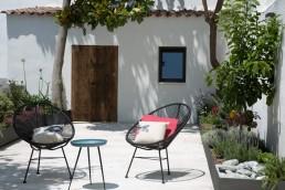 patio reformado en una casa de pueblo español