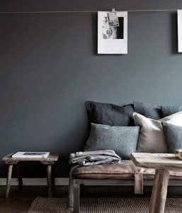 decoracion con cojines sofa en el salon