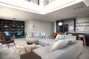 interiorismo duplex con cocina abierta 026