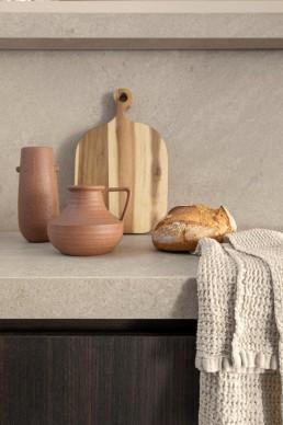 decoración de cocina con encimera - Vive estudio
